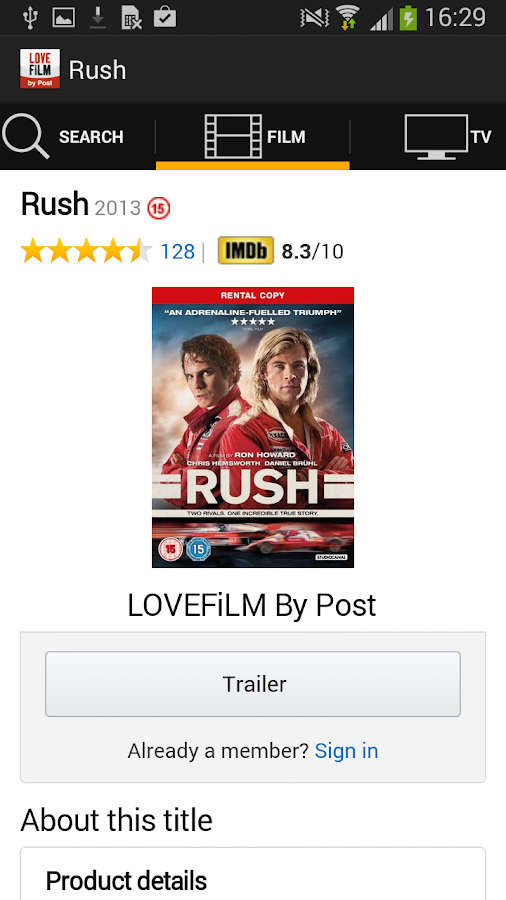 LOVEFiLM By Post - screenshot