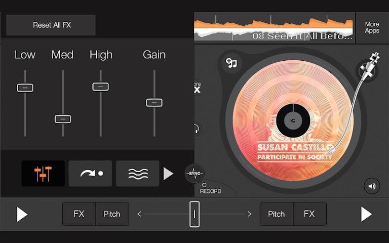 android edjing 5 free DJ musique mixer Screenshot 1