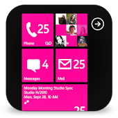 GOSMS WP8 Magenta Theme