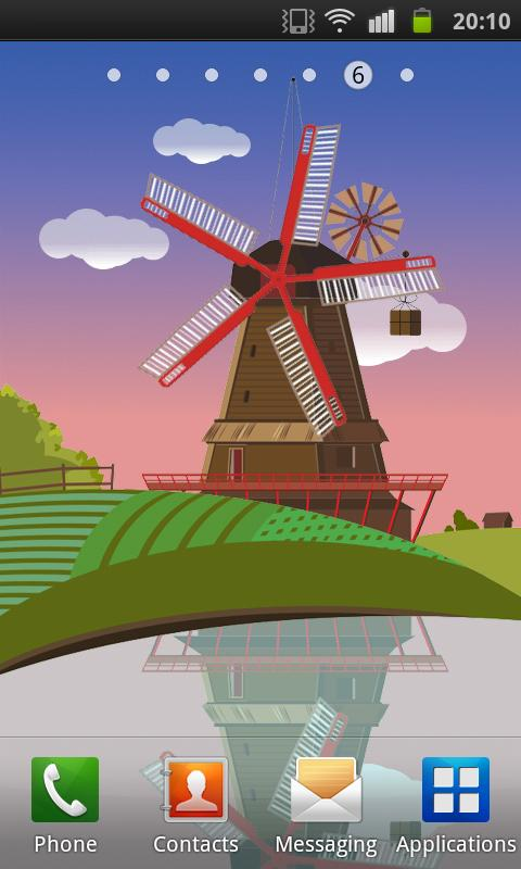 Windmill and Pond LWP (Free) - screenshot