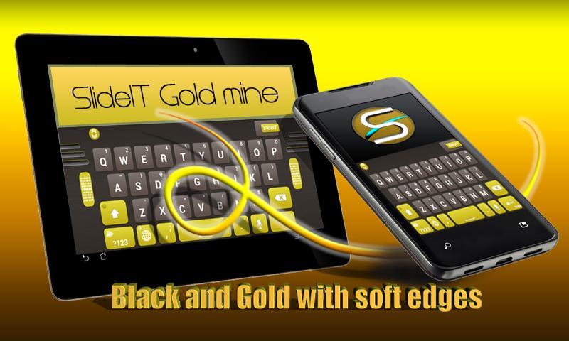 SlideIT Gold Mine Skin - screenshot