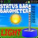 Barometer In Status Bar Light