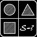 The area of geometric figures. icon
