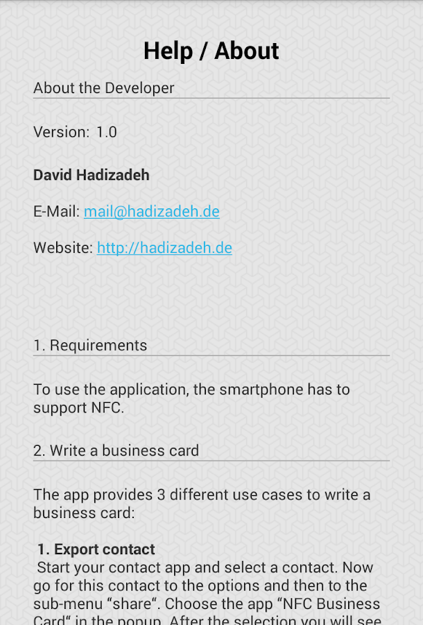 NFC Business Card - Android Apps on Google Play