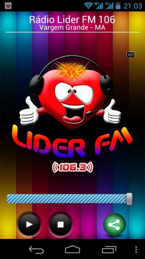 Rádio Lider FM 104 VG- screenshot