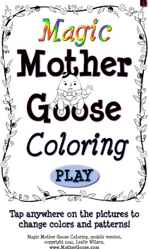 Magic Mother Goose Coloring
