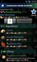 Screenshot of Skyrim Alchemy FREE