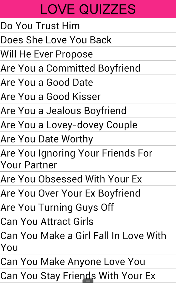 Question For Love Relationship Love Quizzes - ...