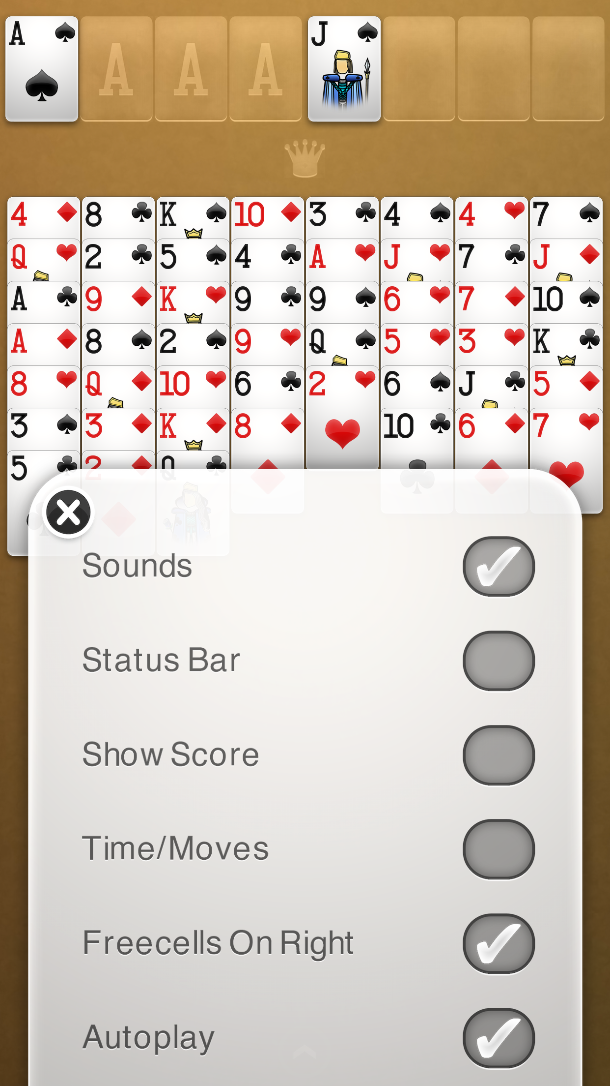 FreeCell Solitaire screenshot #5