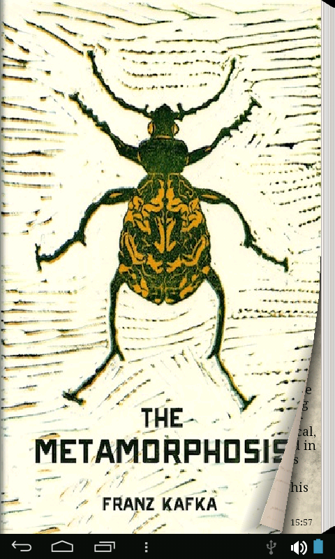 the metamorphosis I as gregor samsa awoke one morning from uneasy dreams he found himself transformed in his bed into a gigantic insect he was lying on his hard, as it were armor-plated, back and when he lifted his head a little he could see his domelike brown belly divided into stiff arched segments on top of which the bed quilt could hardly stay in.
