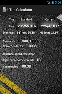 Tire calculator- screenshot thumbnail