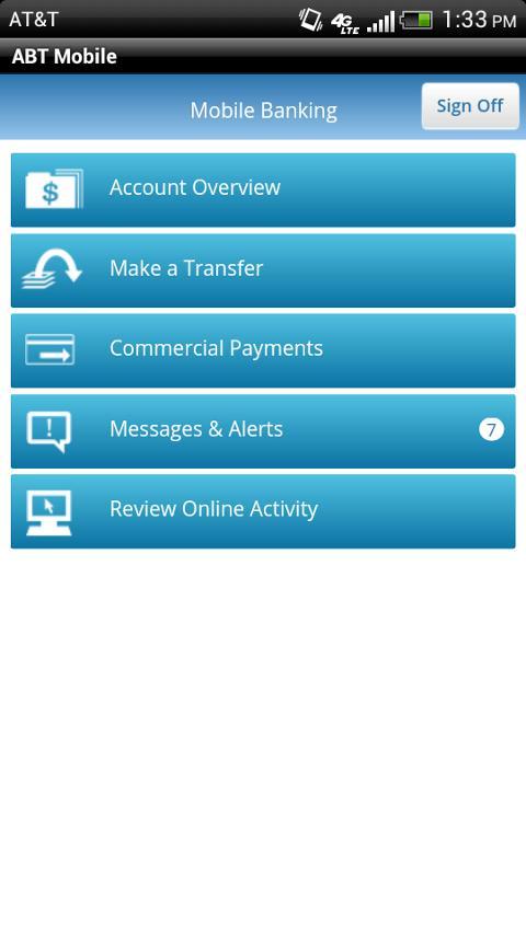 ABTexas.com Mobile Banking- screenshot