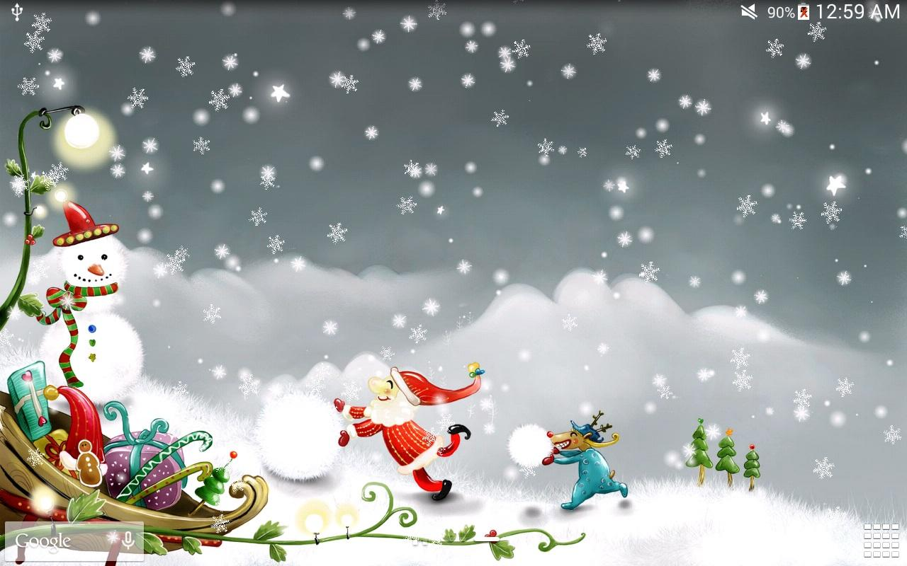 Snow Love Wallpaper For Pc : christmas Snow Live Wallpaper - Android Apps on Google Play