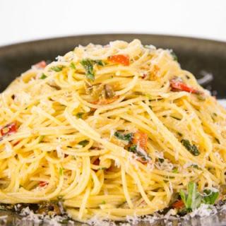 Mario Batali's Spaghetti Aglio e Olio.