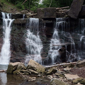 Lower Chedoke Falls by Dave Davenport - Landscapes Waterscapes ( waterfalls, waterscape, waterfall, water falls, waterscapes,  )