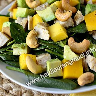 Salad Hat dieu, Xoai Va Thit Ga Thom Ngon
