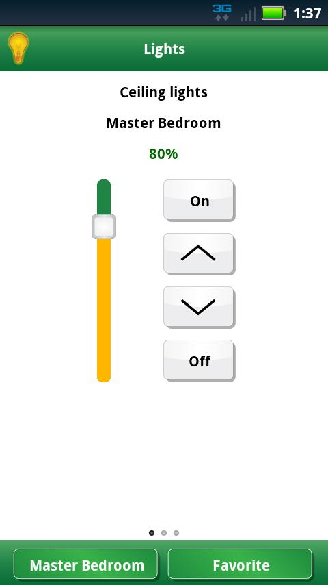 Lutron Home Control+- screenshot