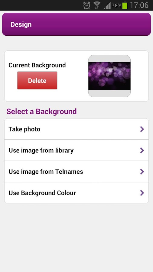 Telnames Mobile Site Builder - screenshot
