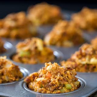 Cornbread Chorizo Stuffing Muffins