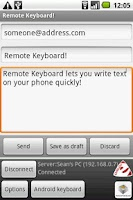 Screenshot of Remote Keyboard Input Method