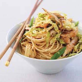 Ginger Chicken Stir-Fry with Sesame Noodles.