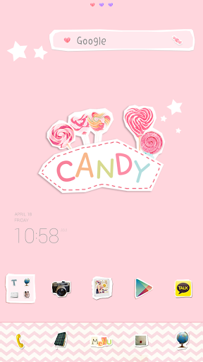 Candy dodol launcher theme