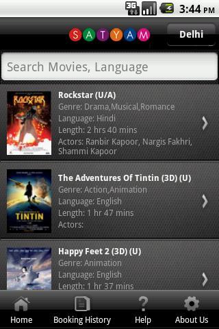 Satyam Cineplexes- screenshot