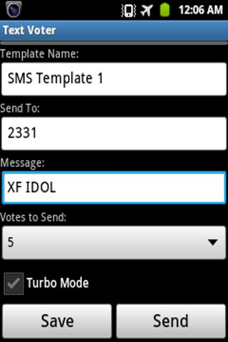 Text Voter - screenshot
