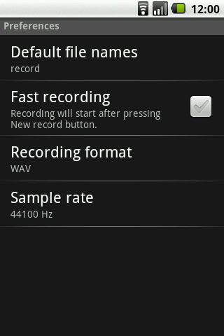 Rec and Save Recorder - screenshot