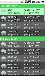 Hourly Weather screenshot 2