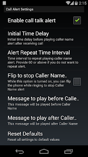 Talk Caller Name PRO- screenshot thumbnail