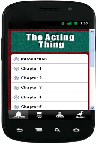 The Acting Thing - screenshot