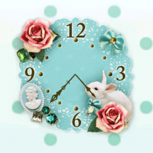 Happy Rabbit ClockWidget