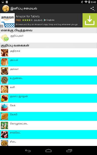 Tamil Nadu Sweets recipes