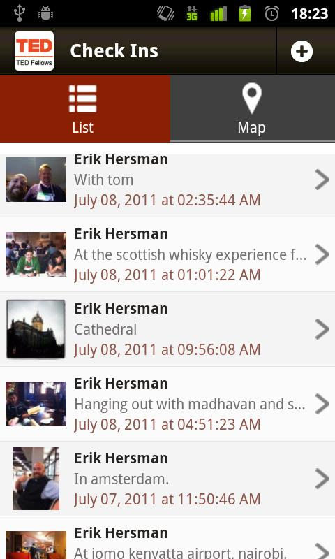 Android App For TEDFellows - screenshot