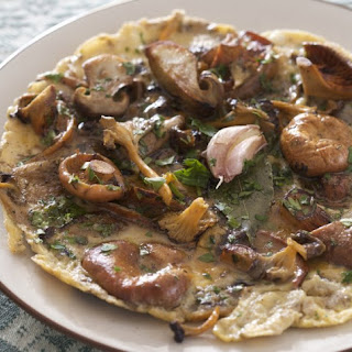 Rif Mountain Omelet With Wild Mushrooms.