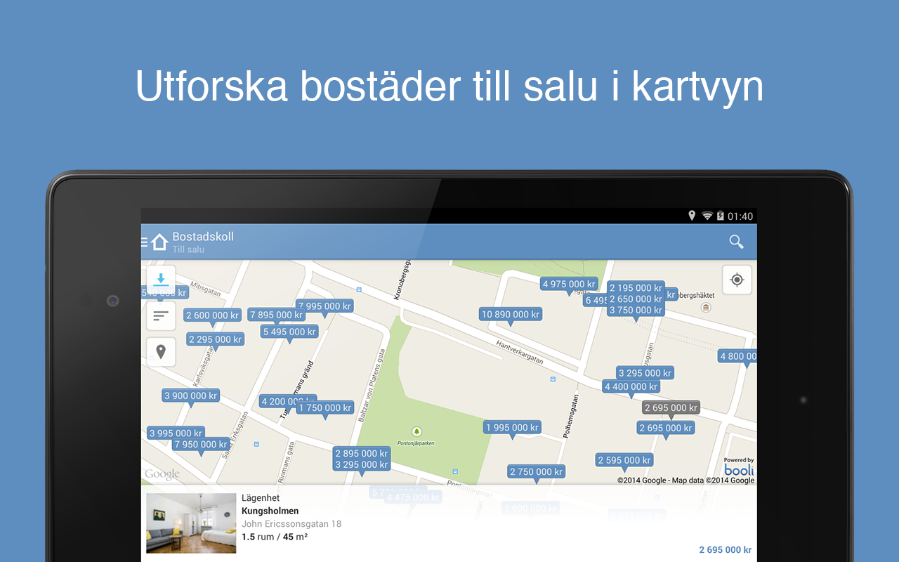 Bostadskoll - screenshot