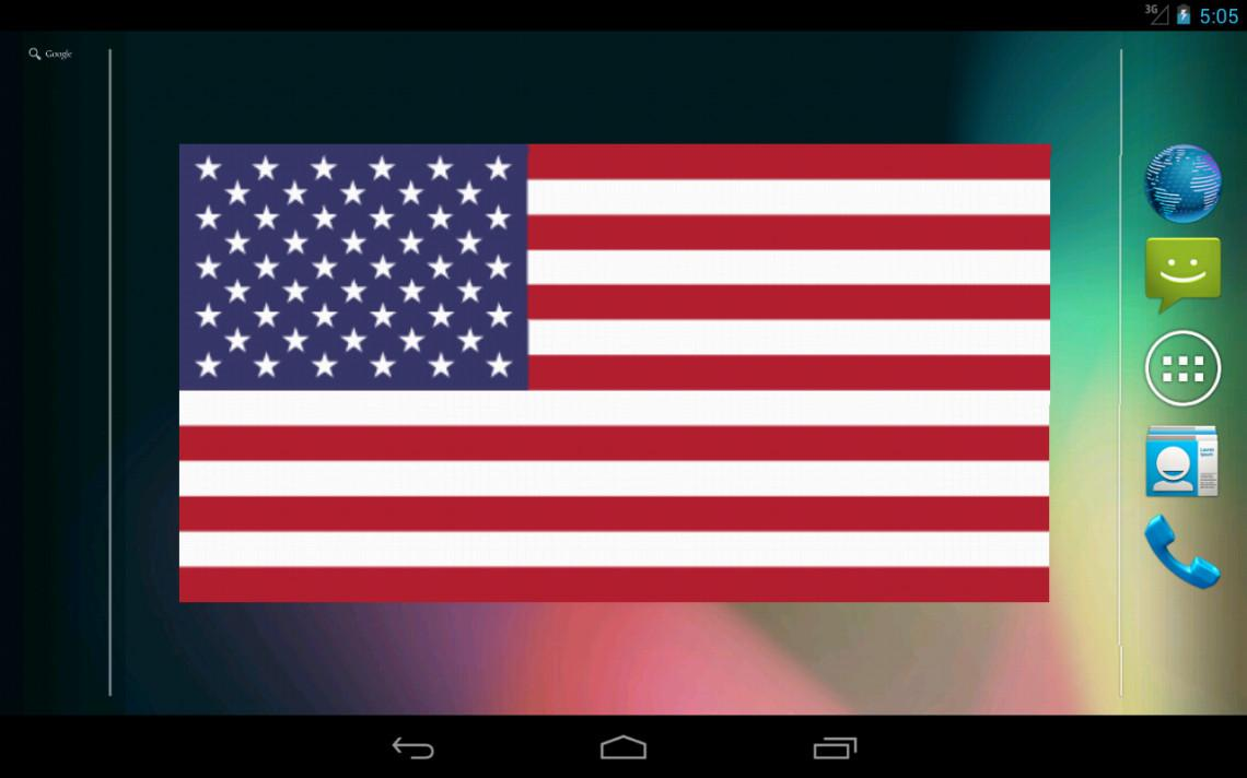 Flag Widget HD - screenshot