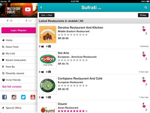 【免費旅遊App】Sufrati | Restaurant Guide-APP點子