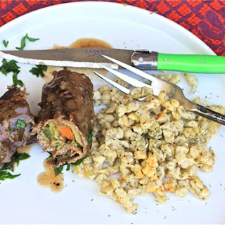 Beef Rouladen With Dill Spaetzle.