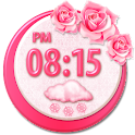 Flowers Clock Weather Widget icon