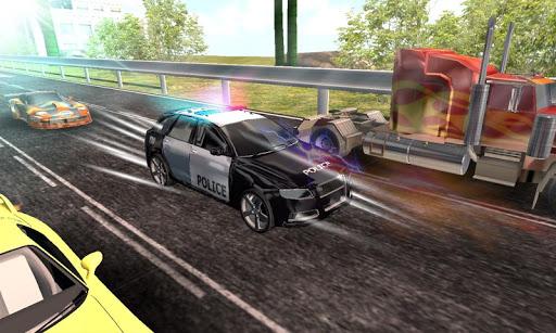 警察街頭追逐賽車