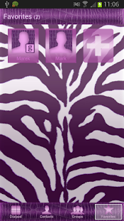 GO Contacts EX Violet Zebra - screenshot thumbnail