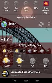 Animated Weather Widget&Clock Screenshot 5