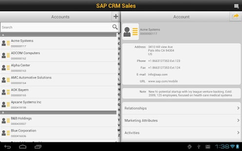 SAP CRM Sales - screenshot thumbnail