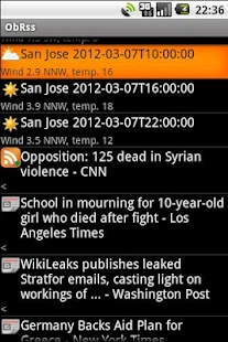 ObRss: news and weather- screenshot thumbnail