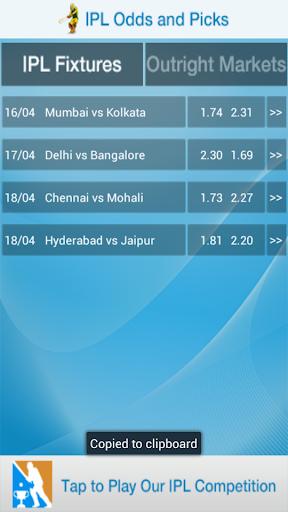 IPL Odds And Picks
