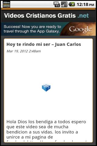 Videos Cristianos Gratis - screenshot
