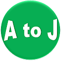 A to J icon