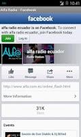 Screenshot of Alfa Radio Ecuador